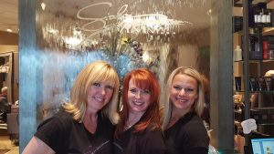 Pictured left to right: Mary Kay Sallee, Melissa Carroll-Chmura and Michelle Szczesny, the three founders of Salon MMM.