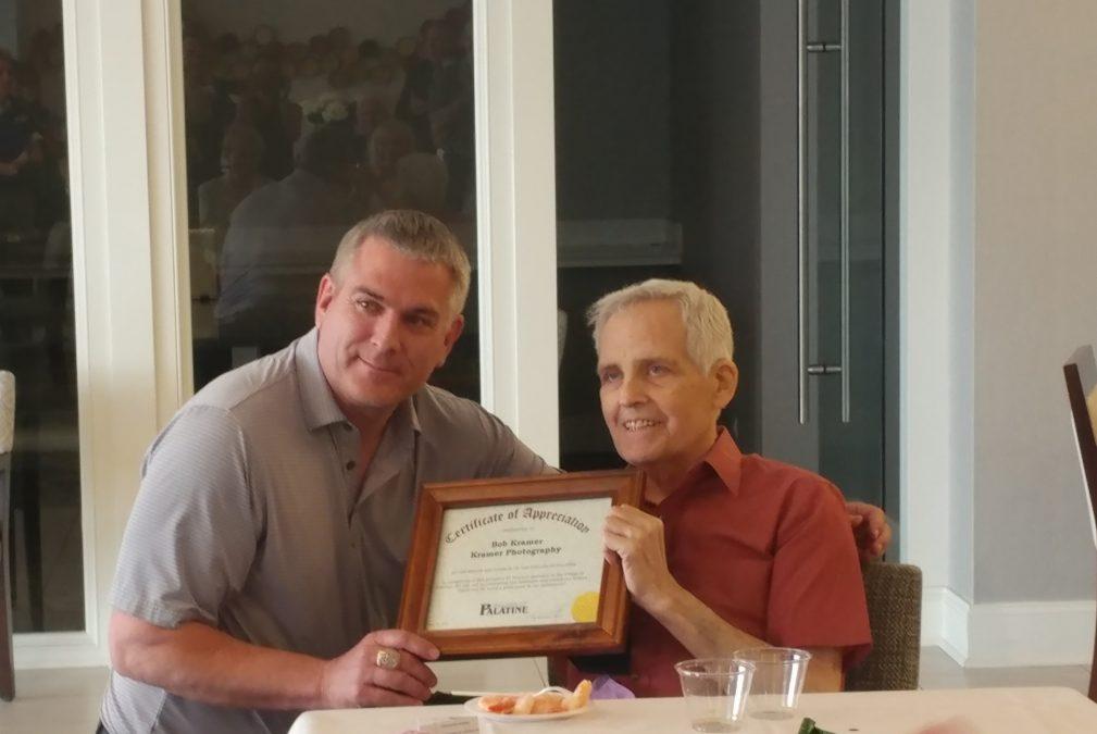 Bob Kramer and Palatine Mayor Jim Schwantz